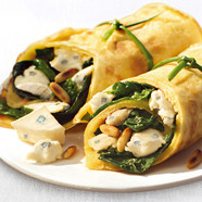Spinat-CAMBOZOLA-Wraps